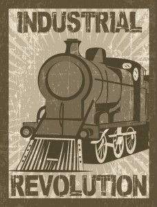 Vintage poster of the First Industrial Revolution