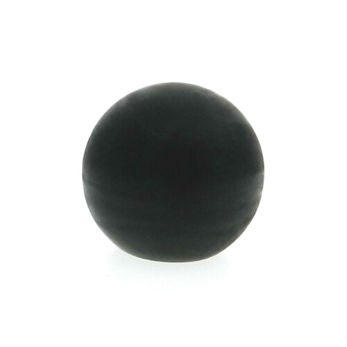 A soft plastic ball hand knob with a tapped hole