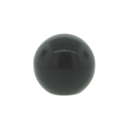 A phenolic ball knob with a tapped hole (metric)