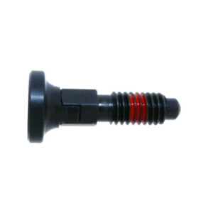 A reratctable plunger with a locking nose and a nylon patch by Delrin