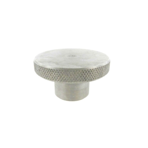 A knurled control knob with a solid hub