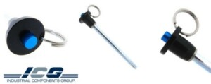 A photo of ball lock pins manufactured by Industrial Components Group
