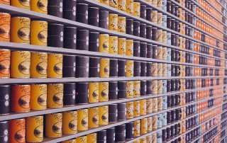 A photo of food packaging on the shelves
