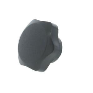 A 6-lobe phenolic hand knob with a tapped hole