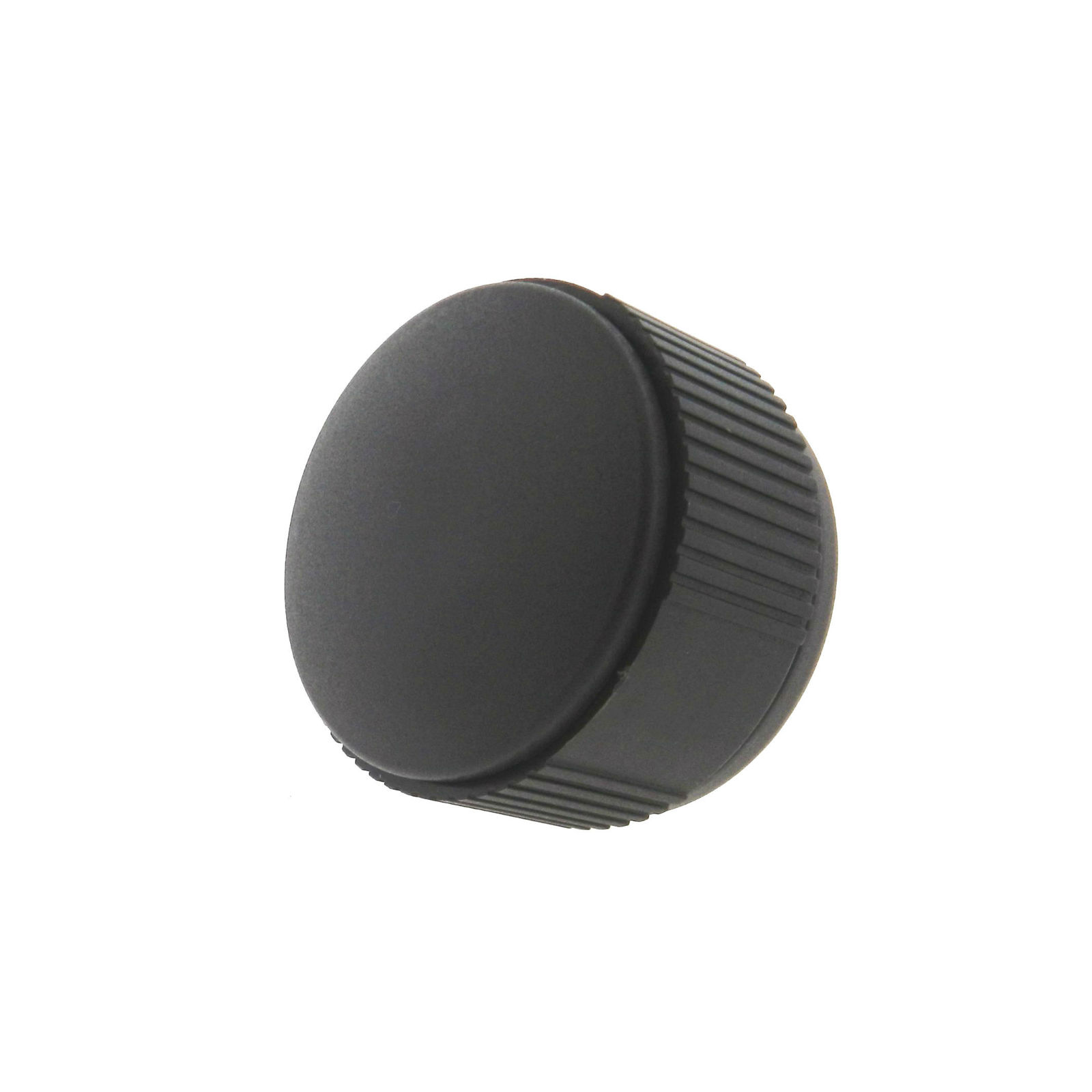 A thermoplastic knurled knob with a tapped hole