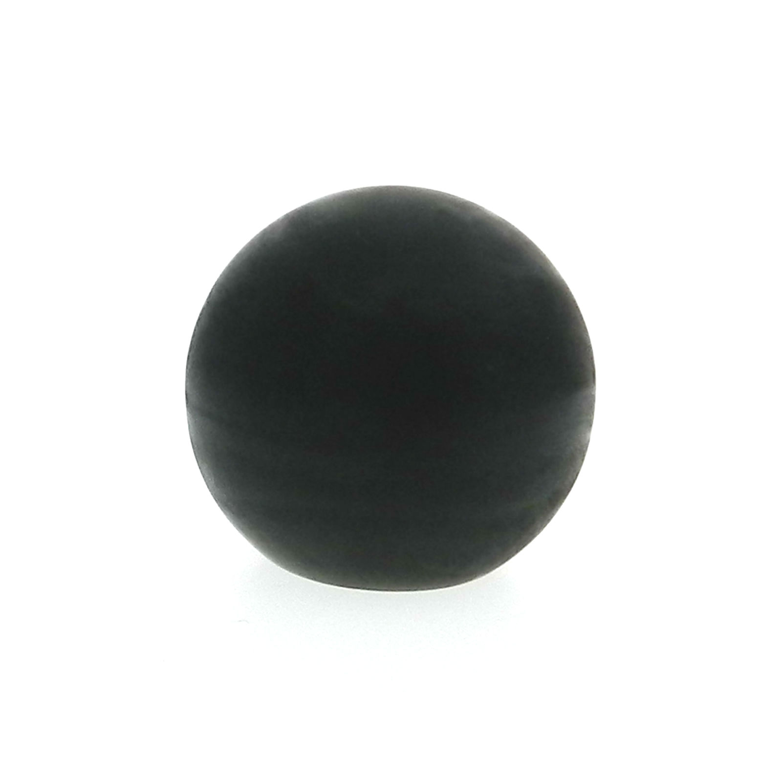 A soft plastic ball hand knob with a tapped hole