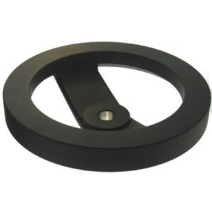 An aluminum 2-spoke handwheel without a handle