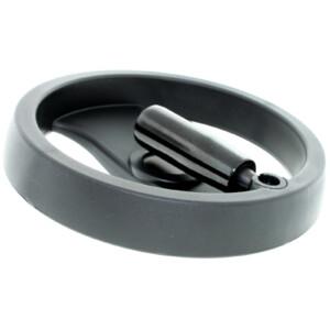 A 2-spoke handwheel with a folding handle