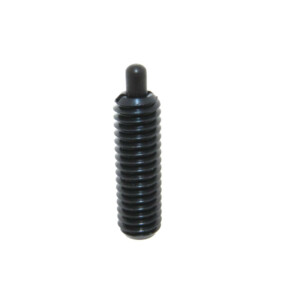 A steel standard spring plunger with standard end force