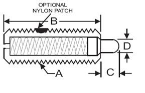 Ball /& Spring Plunger SWN10-3 Spring Plunger Standard End Force