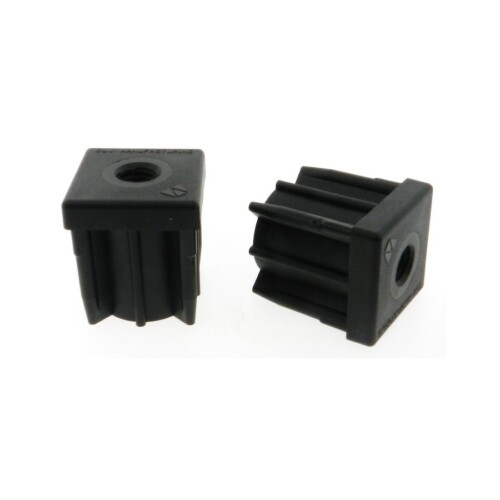 A square threaded tube end leveling pad