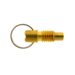 A stubby pull ring plunger with a locking nose and no nylon patch