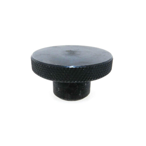 A knurled control knob reamed with a set screw