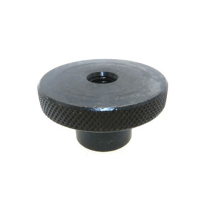 A knurled control knobs reamed thru with a set screw