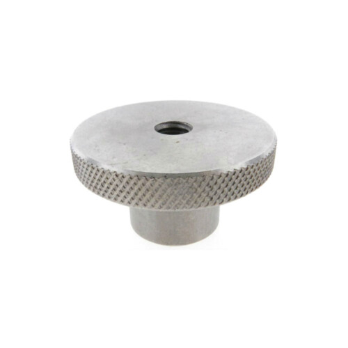 A knurled control knob reamed thru without a set screw