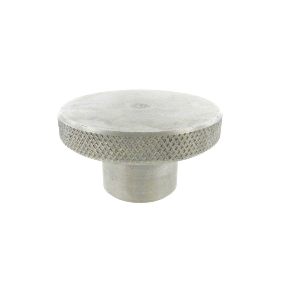 A knurled control knob with a tapped hole (metric)