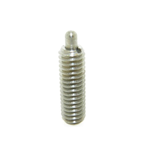 A stainless steel standard spring plunger with standard end force